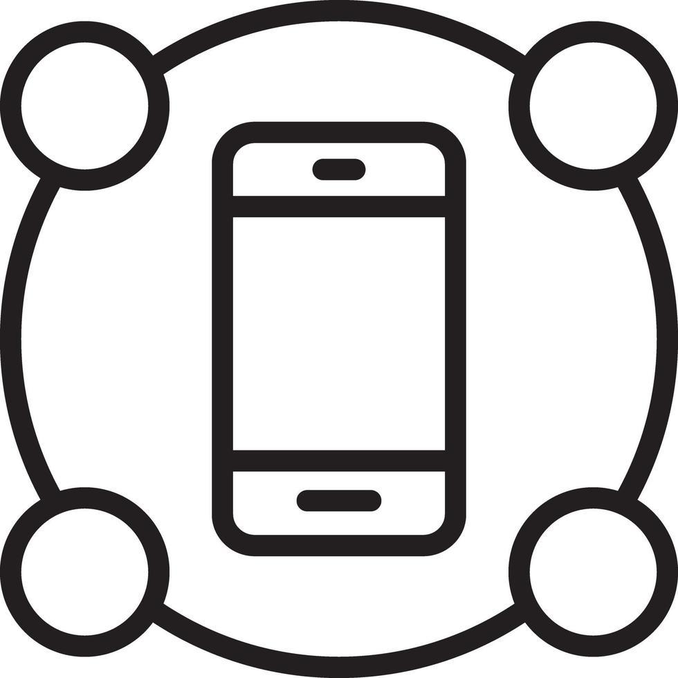 icono de línea para características vector