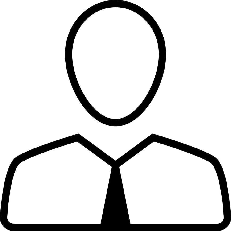 Line icon for employee vector