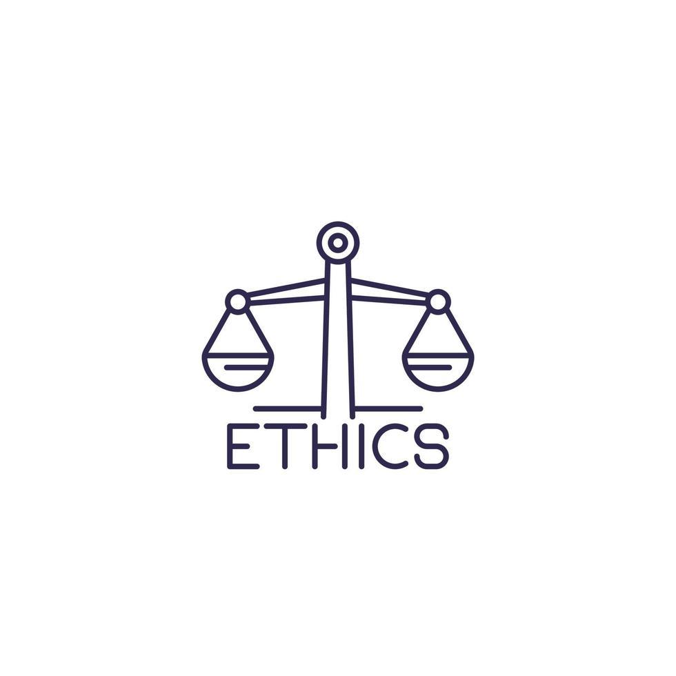 Ethics, line icon vector