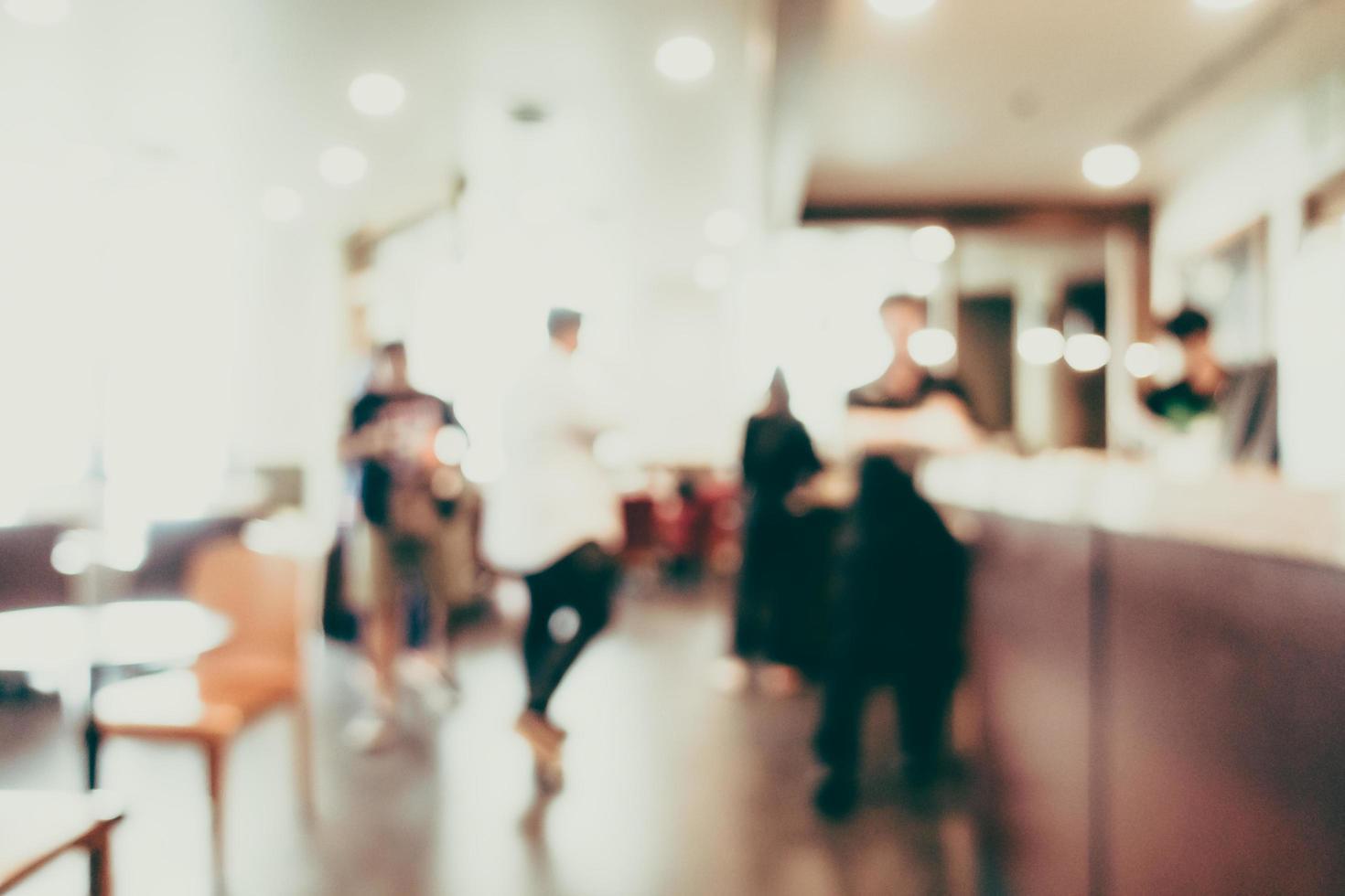 Fondo de cafetería desenfocado abstracto foto