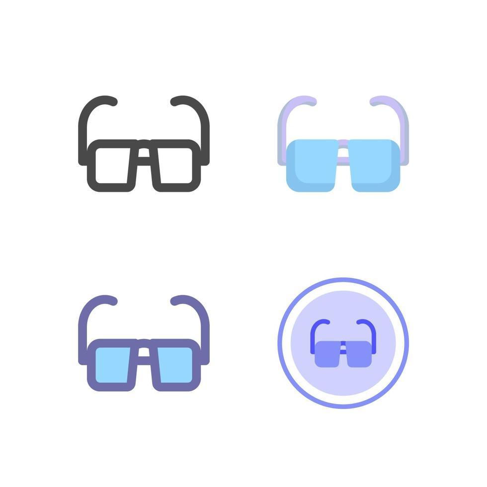 paquete de iconos de gafas aislado sobre fondo blanco. para el diseño de su sitio web, logotipo, aplicación, interfaz de usuario. Ilustración de gráficos vectoriales y trazo editable. eps 10. vector