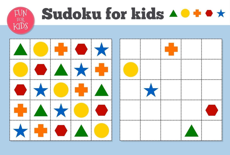 sudoku. mosaico matemático para niños y adultos. cuadrado mágico. juego de rompecabezas de lógica. vector