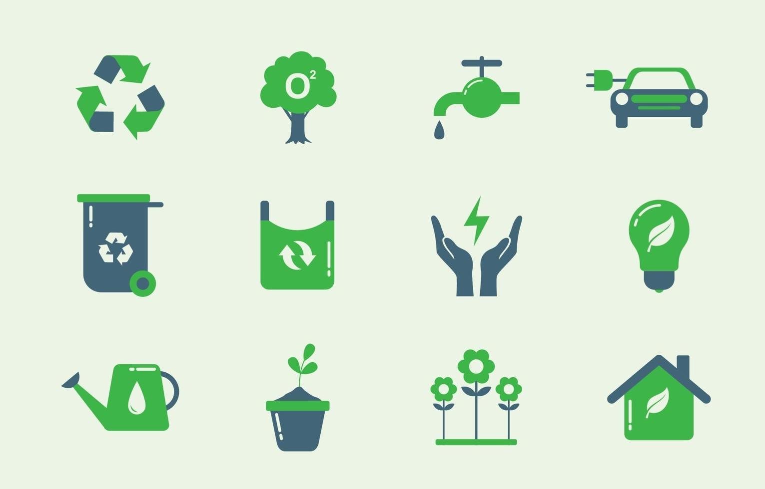 Earth Day Icon Pack vector
