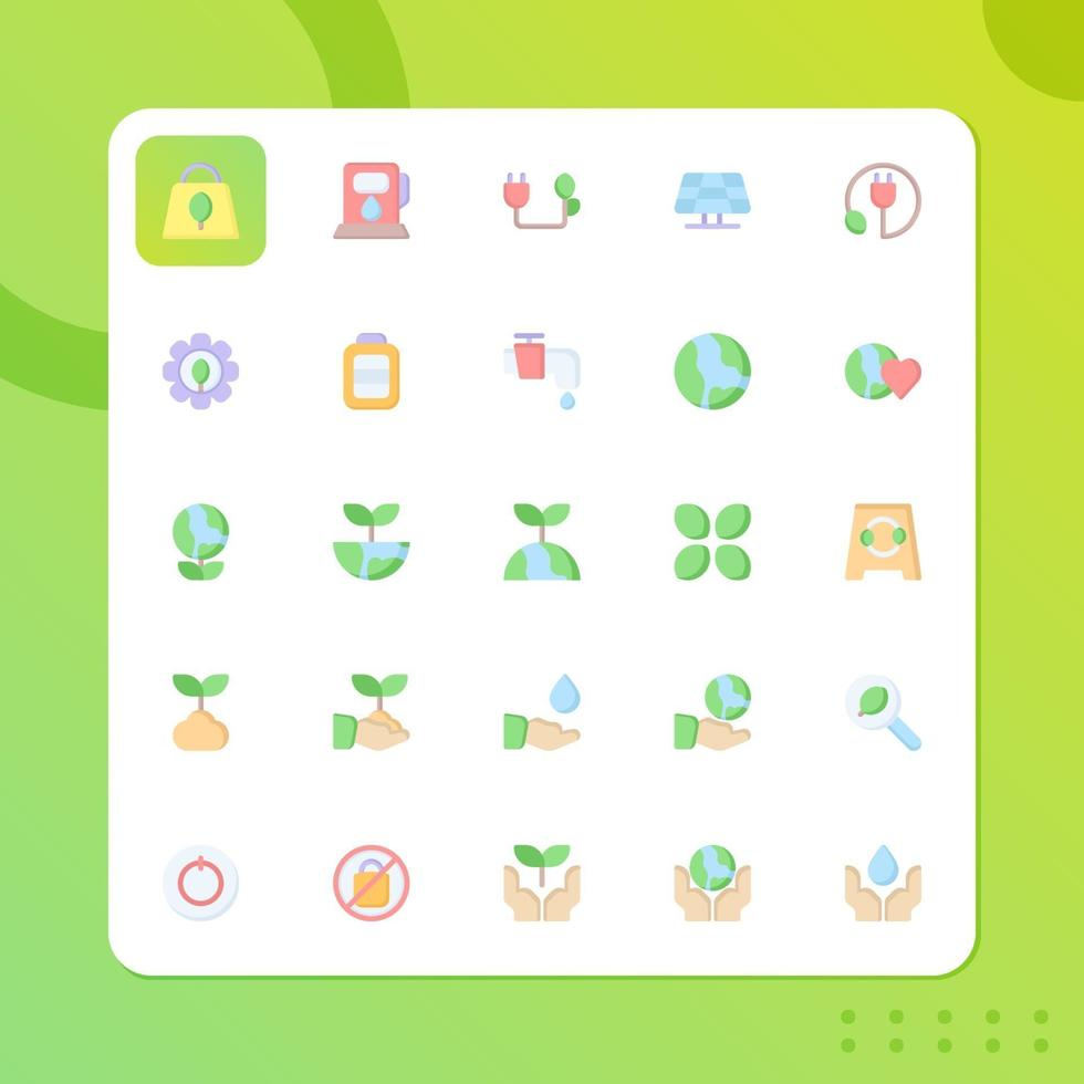 Environtment icon pack isolated on white background. for your web site design, logo, app, UI. Vector graphics illustration and editable stroke. EPS 10.