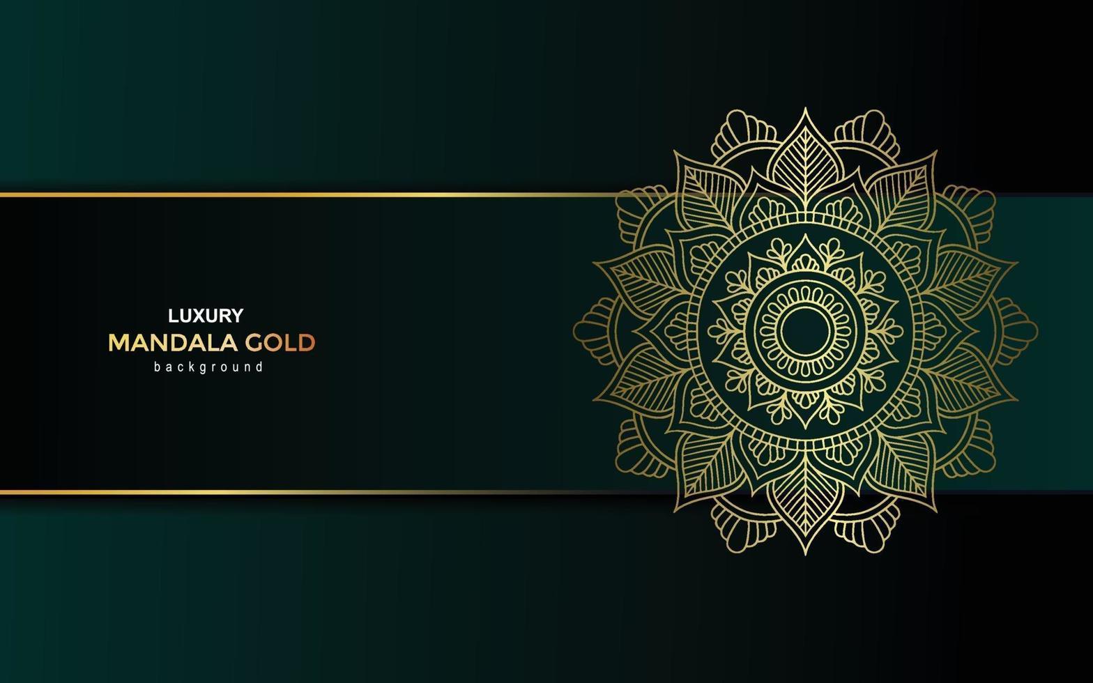 Luxury gold mandala ornate background for wedding invitation, book cover vector