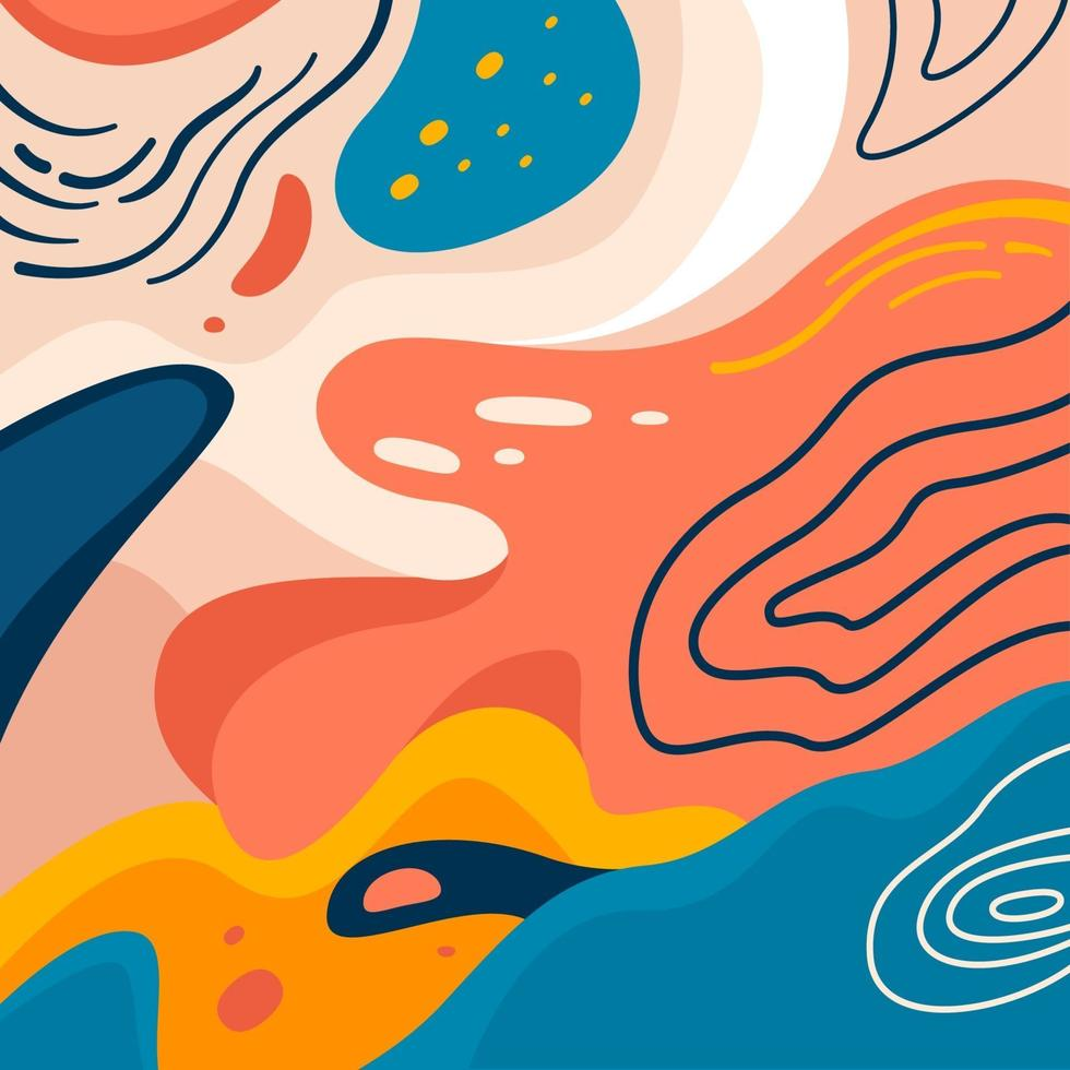 Colorful Fine Art Background Abstract vector