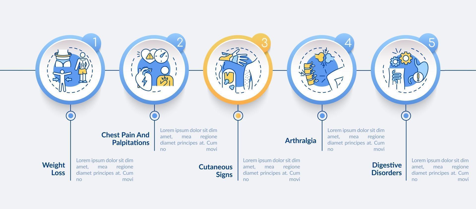 plantilla de infografía de vector de salud y medicina