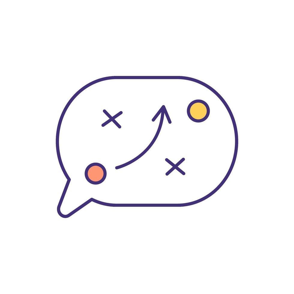 icono de color rgb de planificación estratégica vector