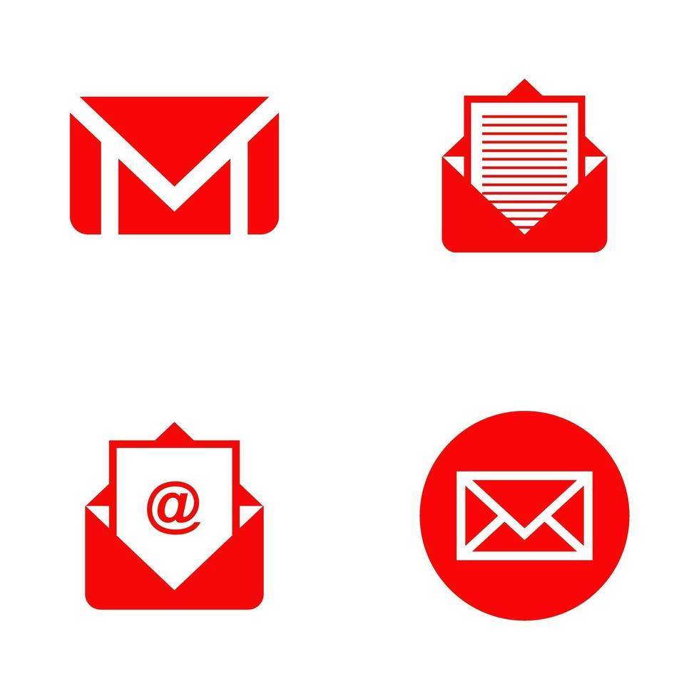 email icon logo design template vector