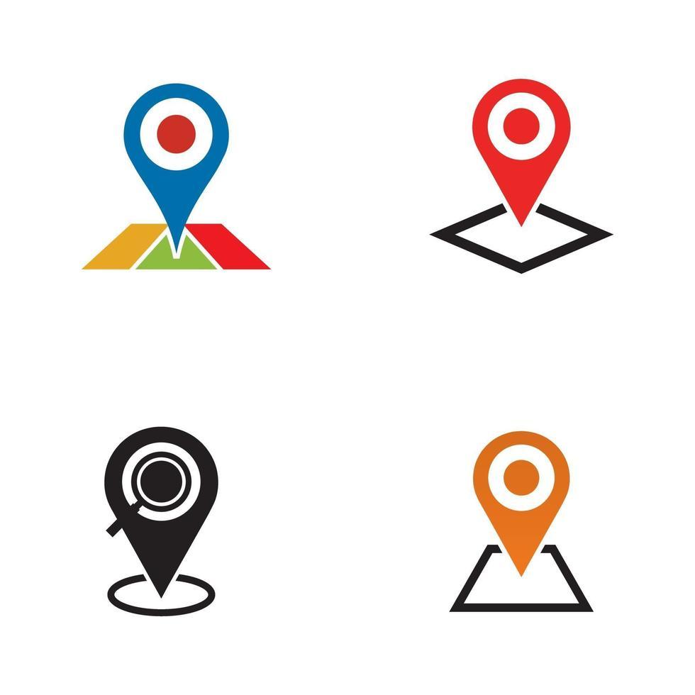 plantilla de diseño de logotipo de icono de punto de ubicación vector
