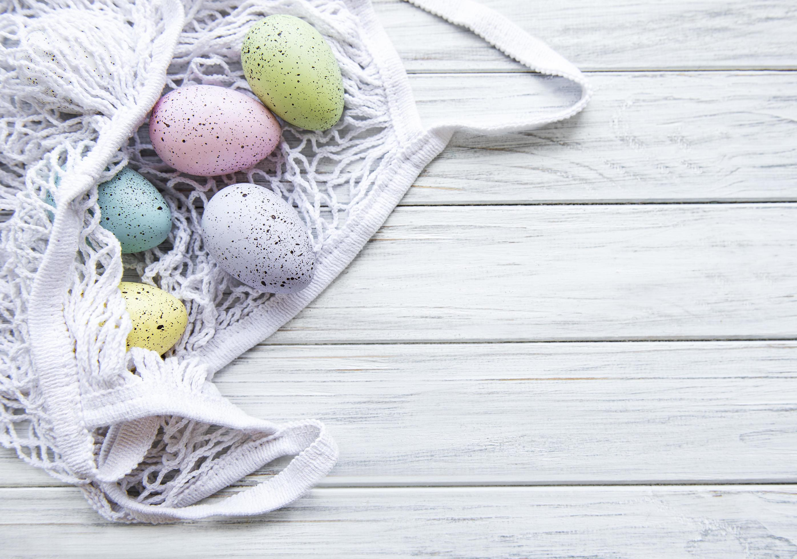 Drawstring Backpack Painted Easter Eggs Bags