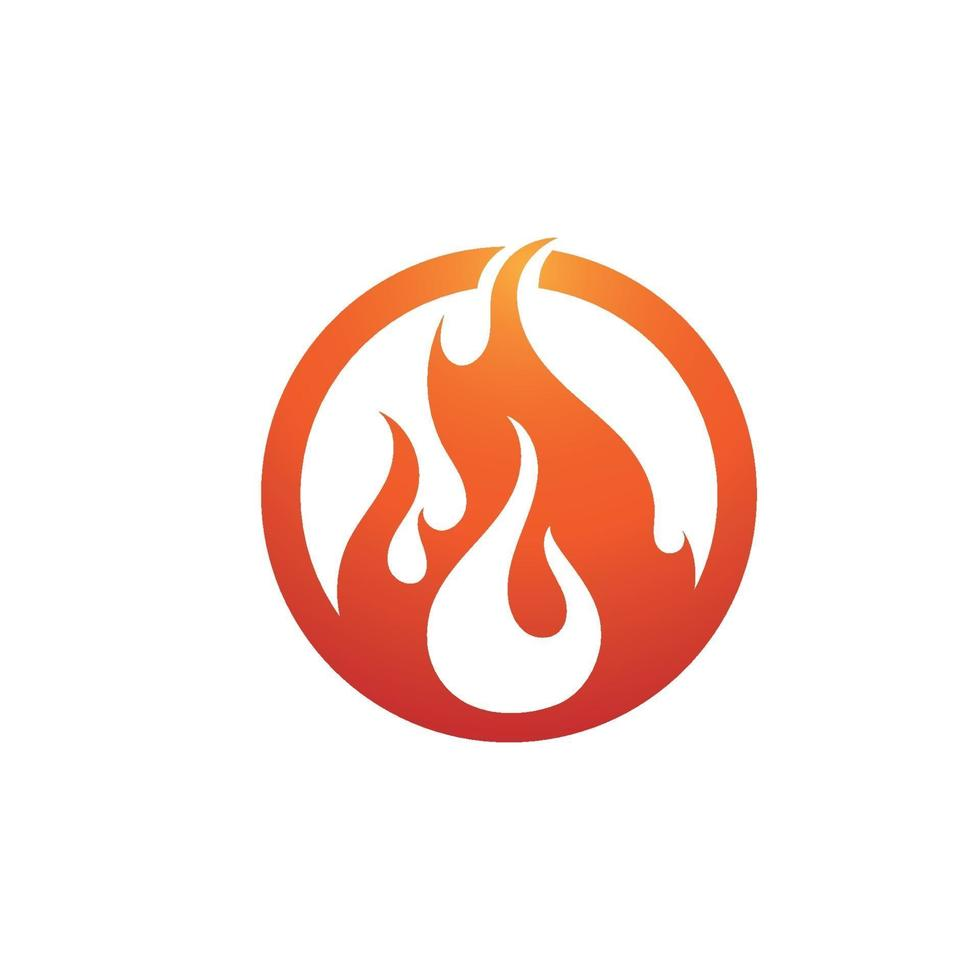 Fire flame vector illustration design template image