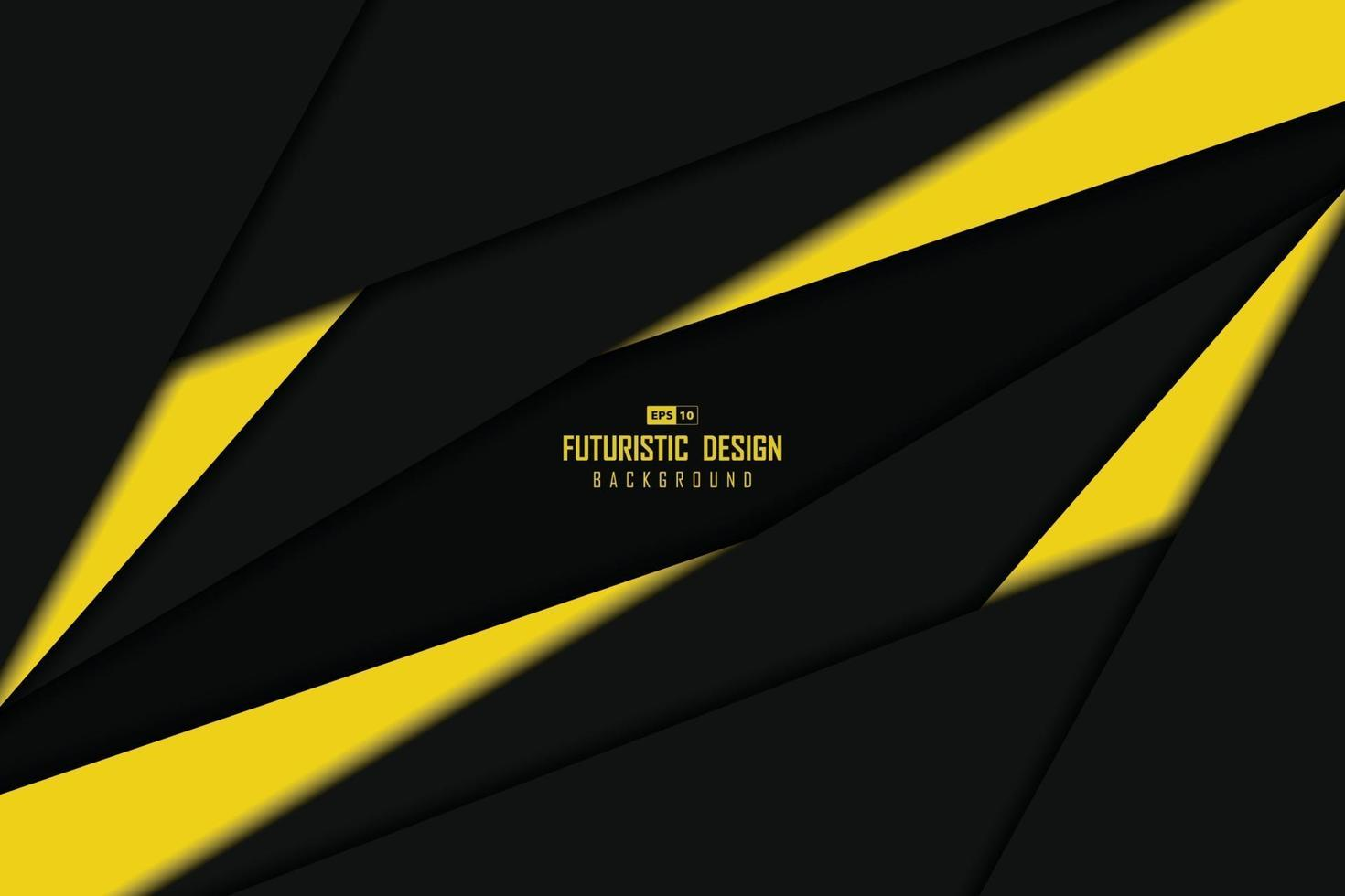 Abstract black and yellow tech overlap design of center template background. illustration vector eps10