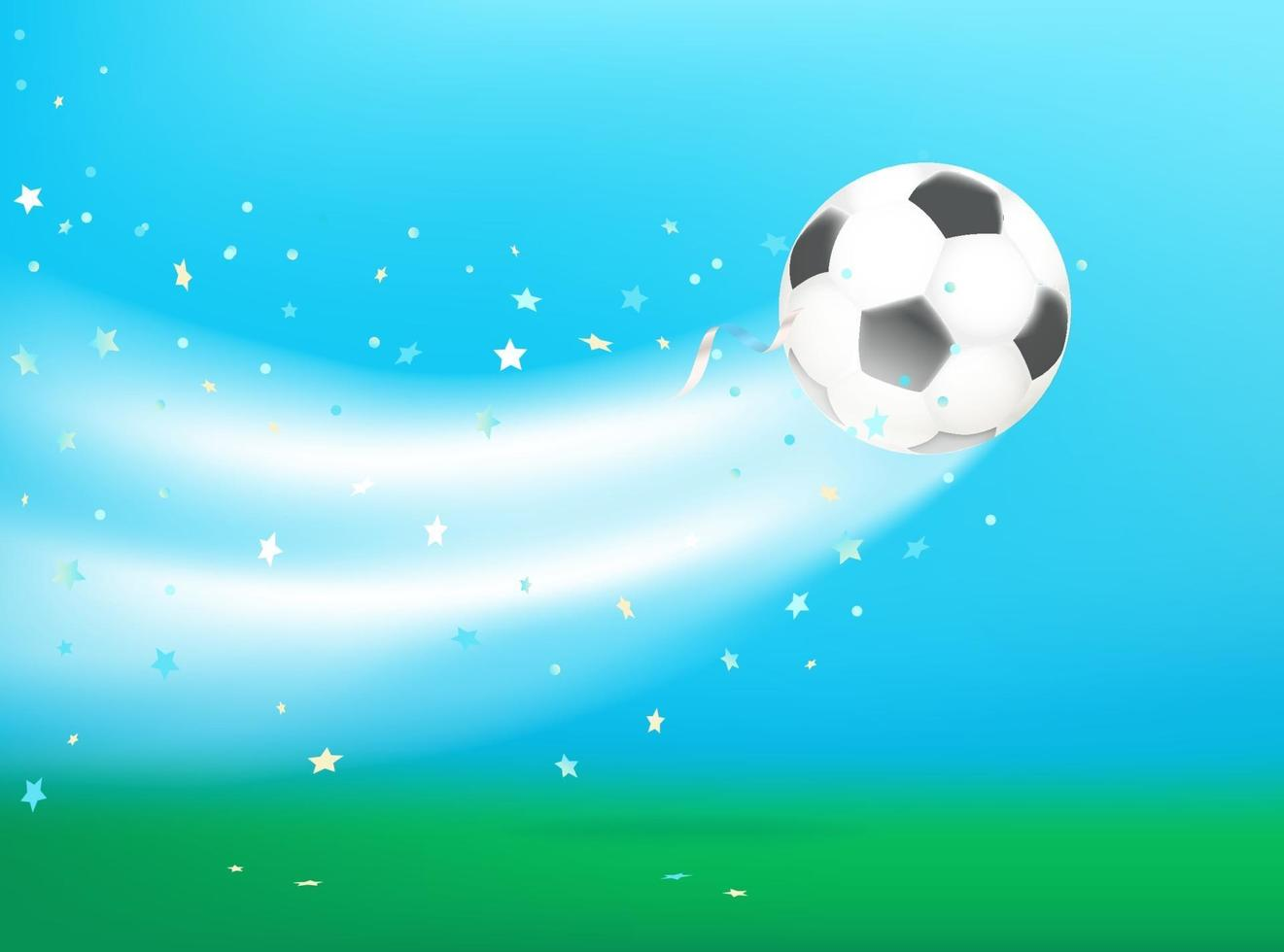 balón de fútbol tras patada. concepto de vector. vector