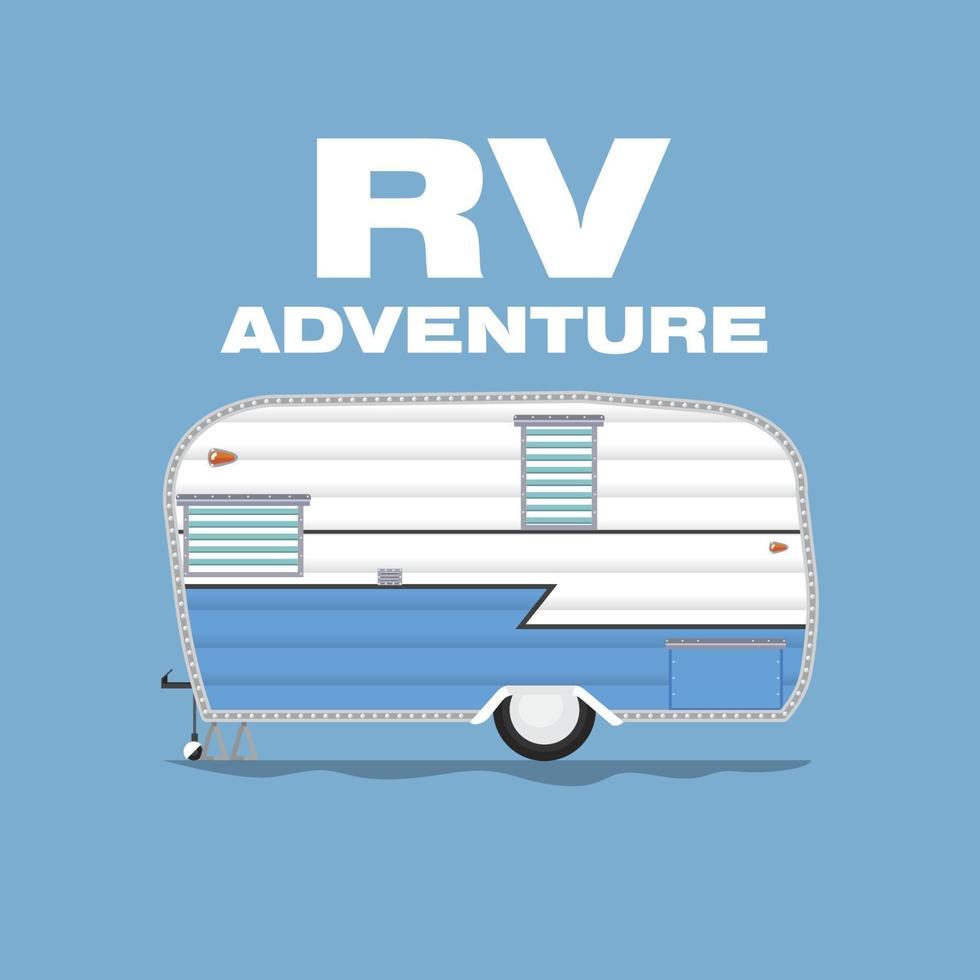 RV Camping Adventure vector