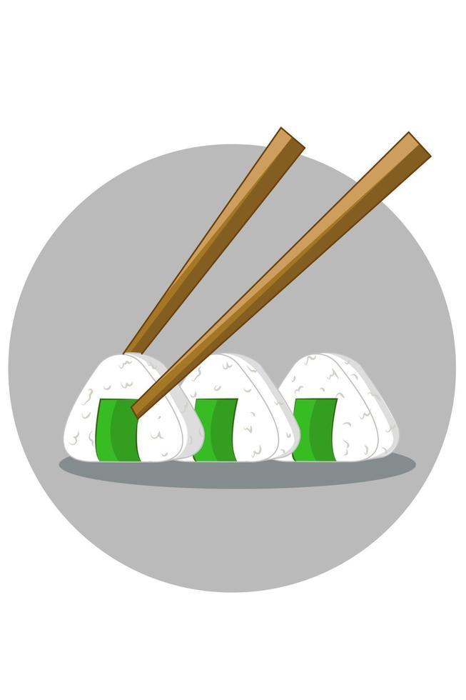Ilustración de vector de arroz de sushi
