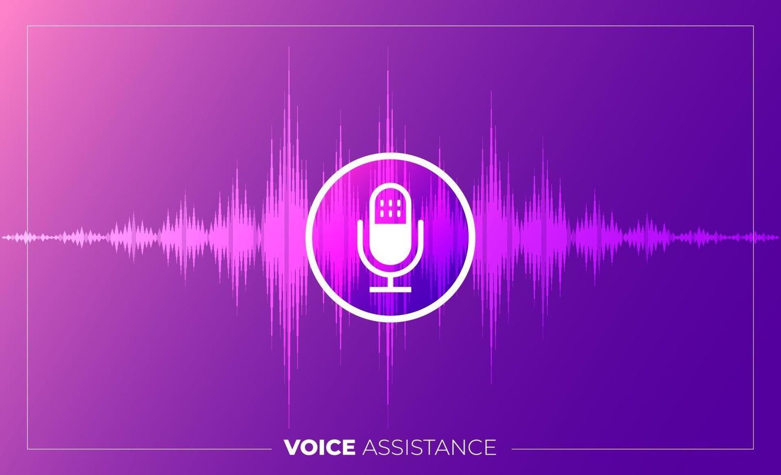 Concept Voice Technology vector