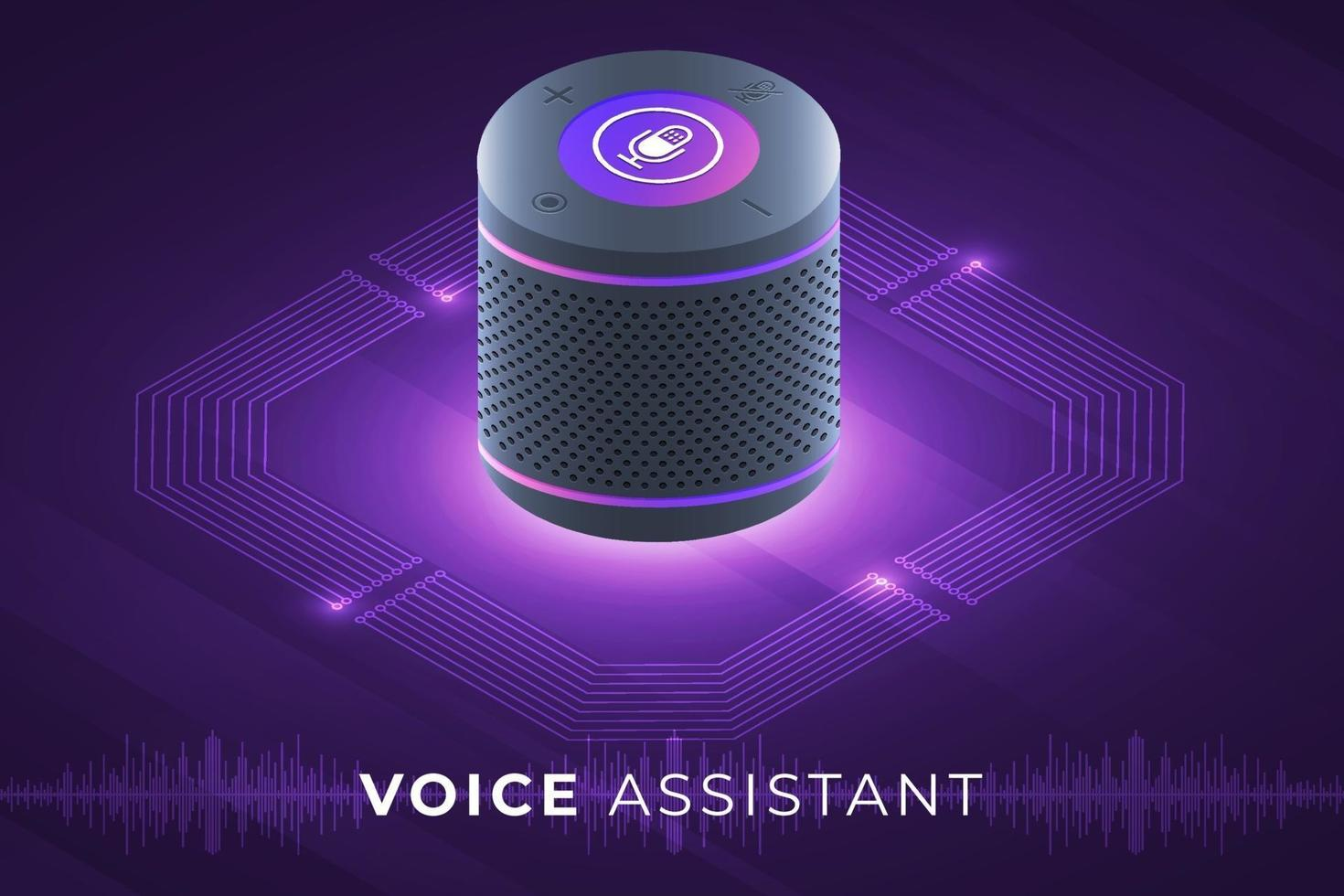 Voice assistant internet of things vector