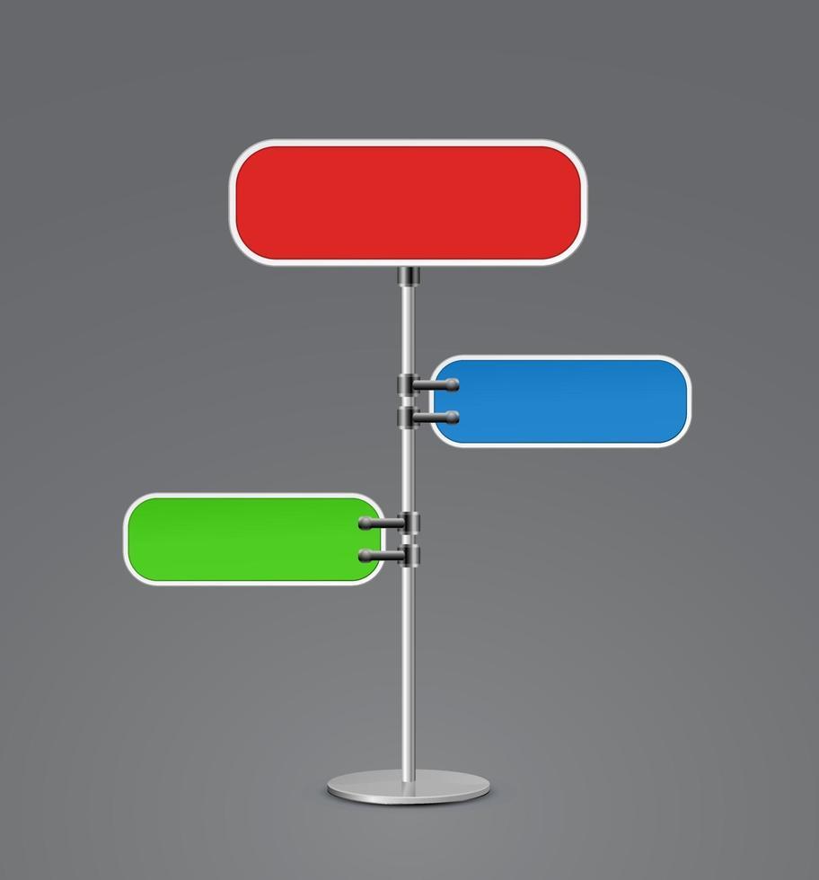 banner billboard 3d icon vector