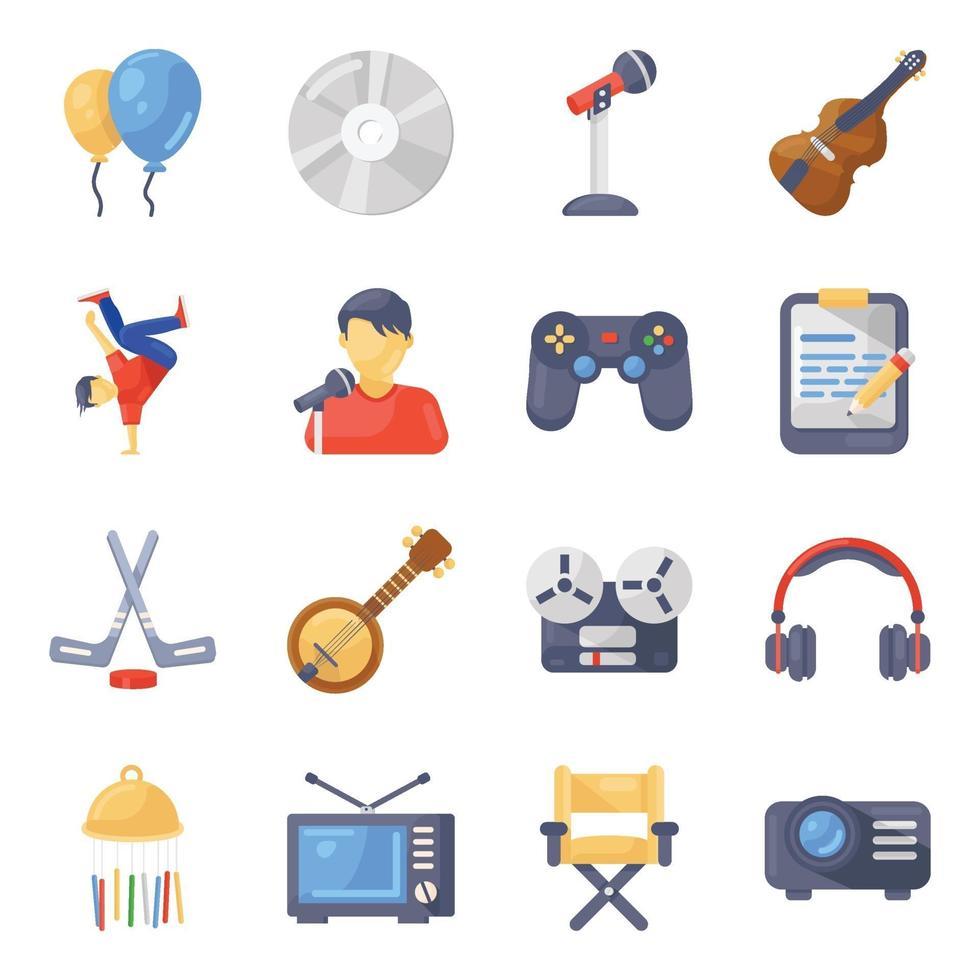 accesorios y equipos de entretenimiento vector