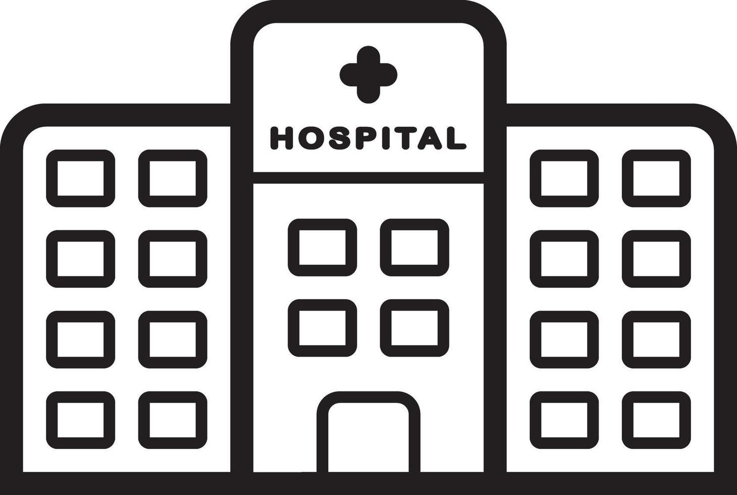 icono de línea para hospital vector