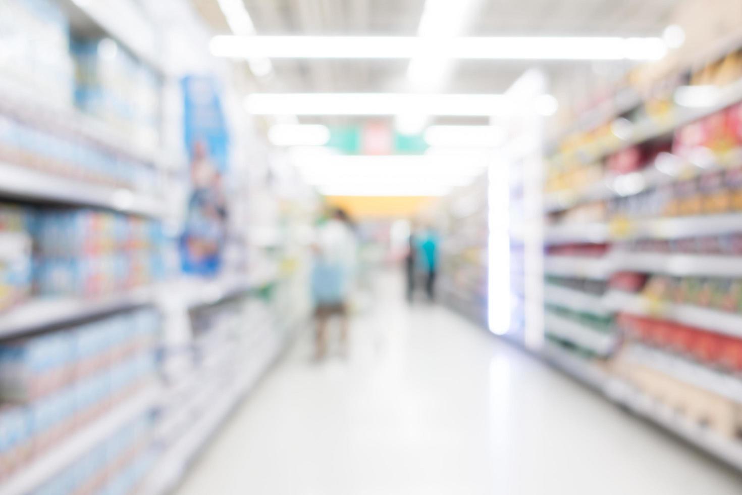 Interior de supermercado desenfocado abstracto para el fondo foto