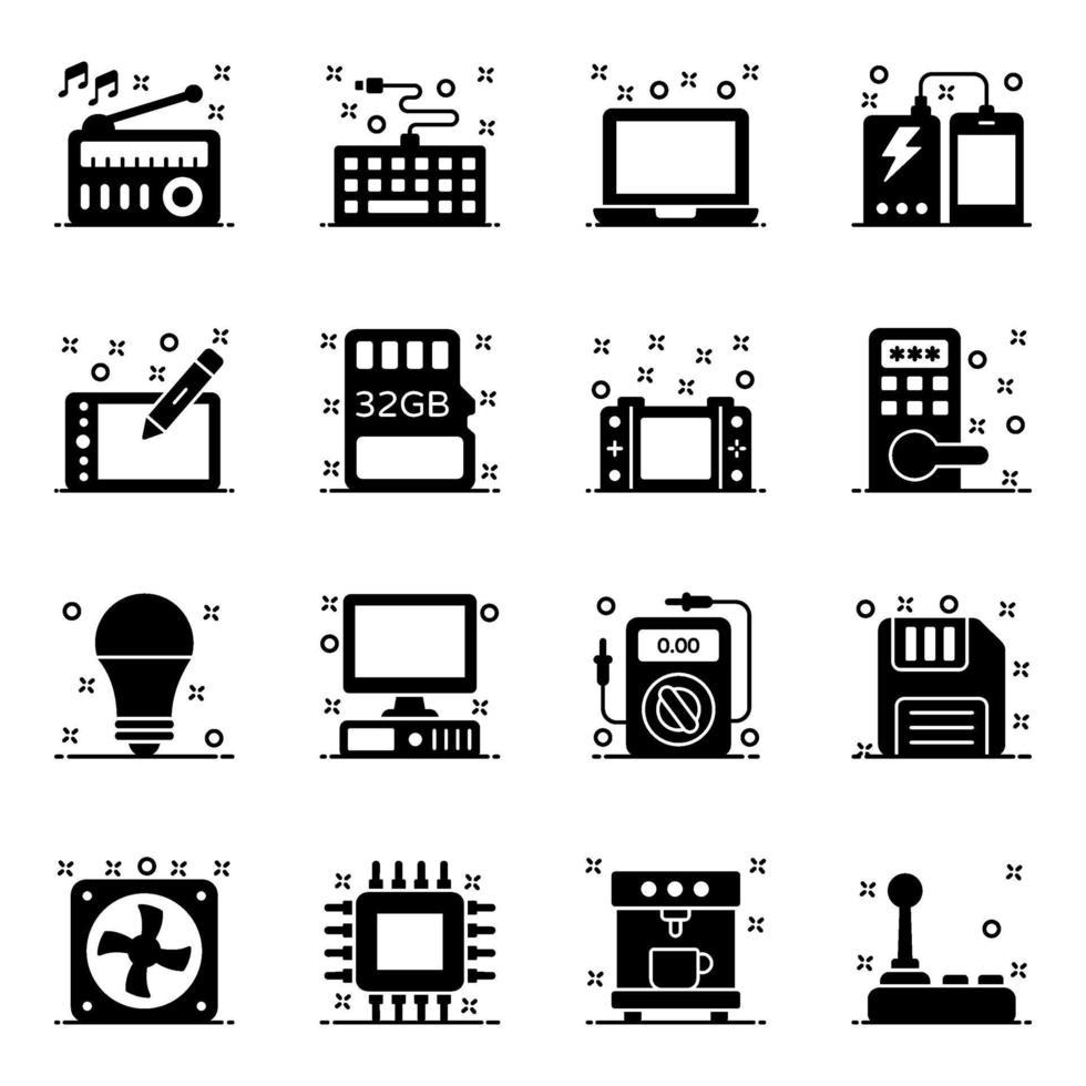 accesorios informáticos y dispositivos electrónicos vector
