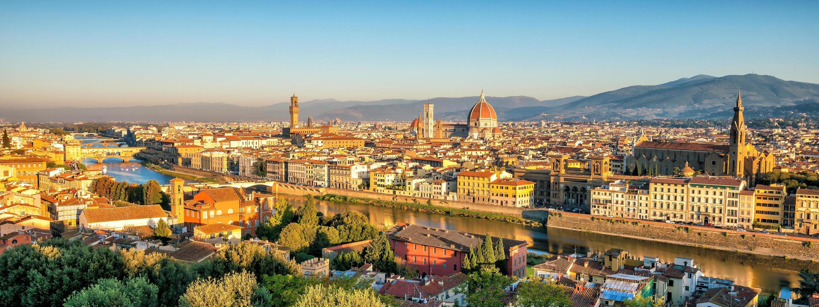 Vista del horizonte de Florencia desde la vista superior foto