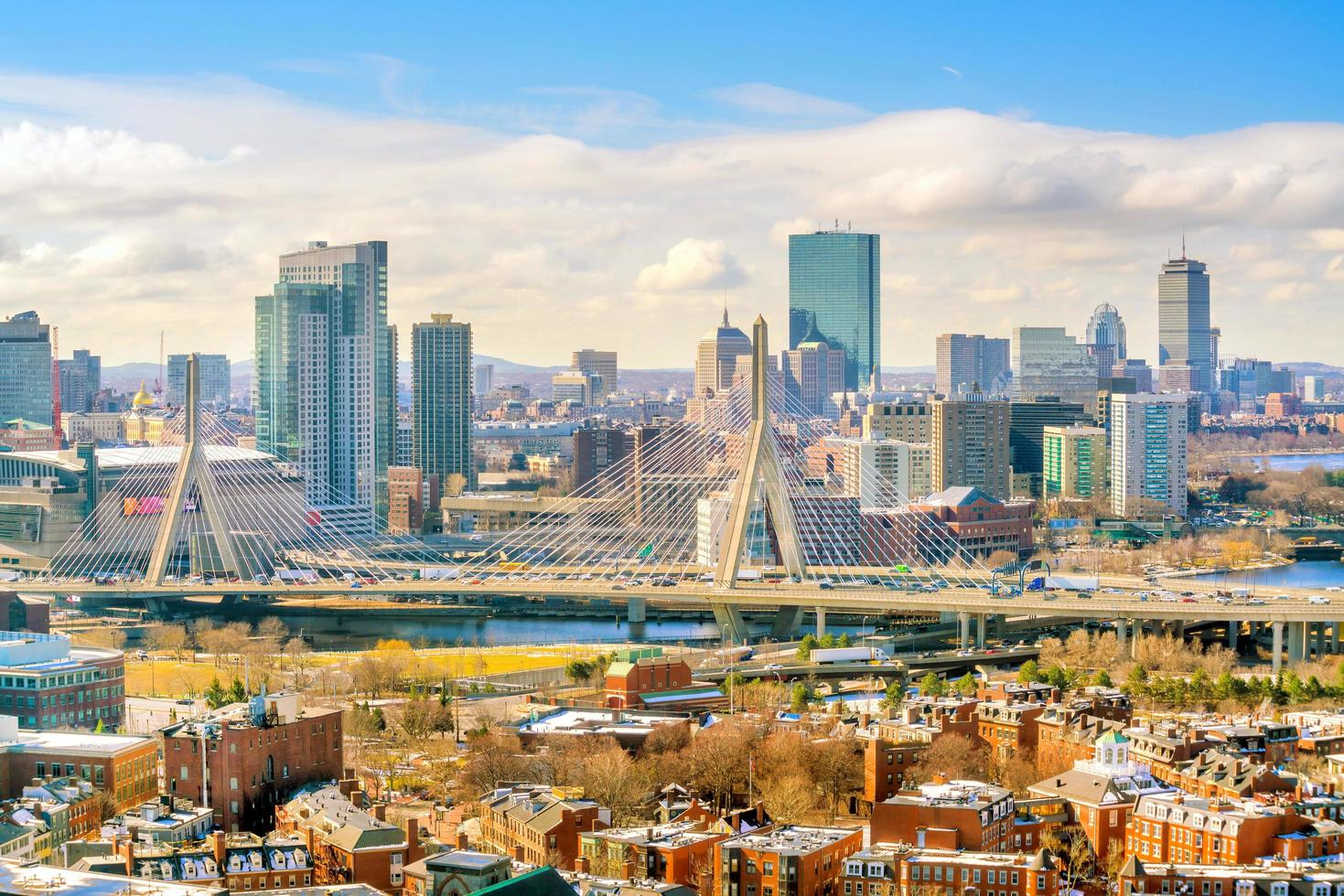 El horizonte de Boston en Massachusetts, EE. foto