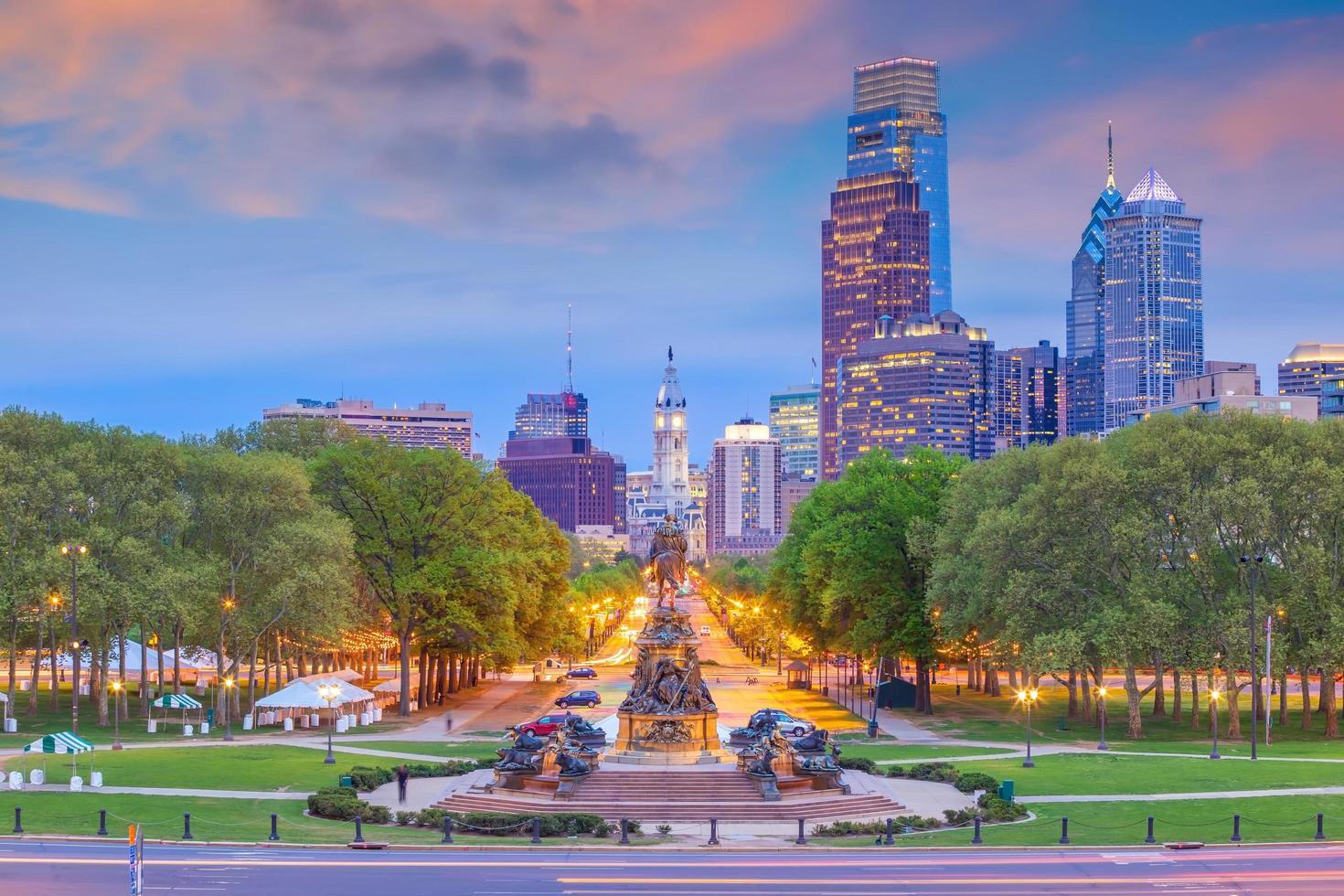Paisaje urbano de la ciudad de Filadelfia en Pensilvania foto