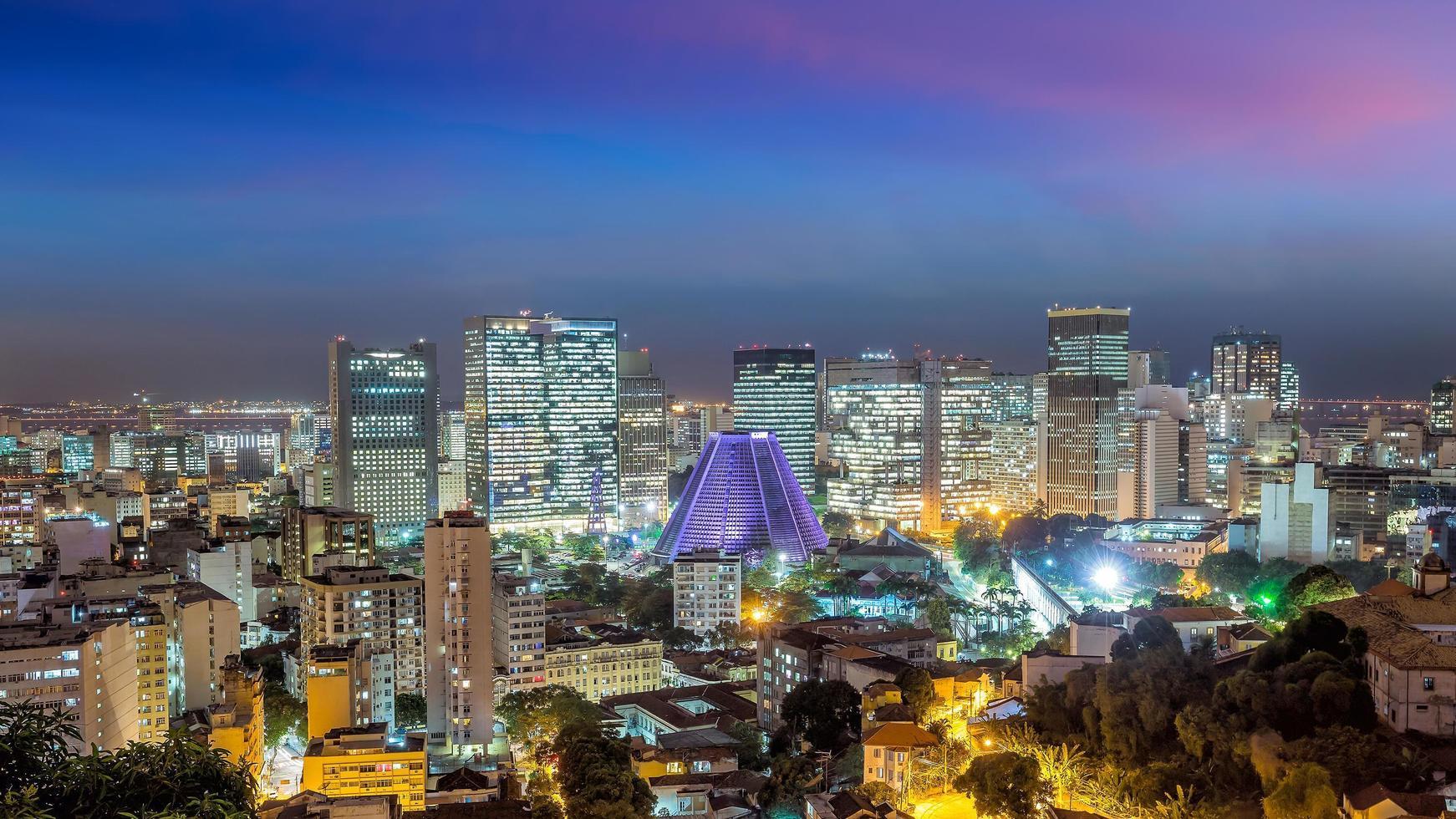 Panorama view of Rio de Janeiro downtown photo