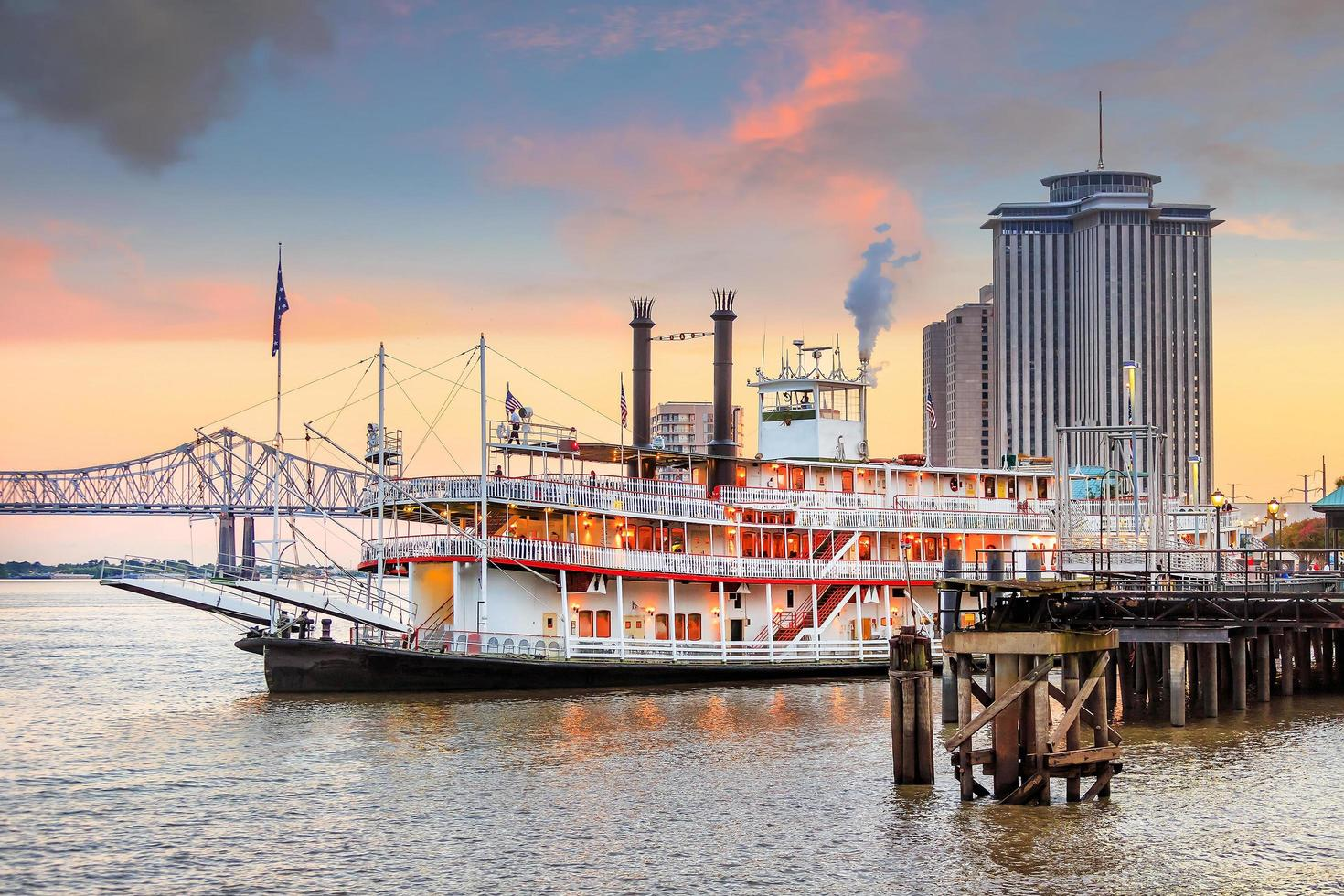 New Orleans paddle steamer in Mississippi river in New Orleans photo