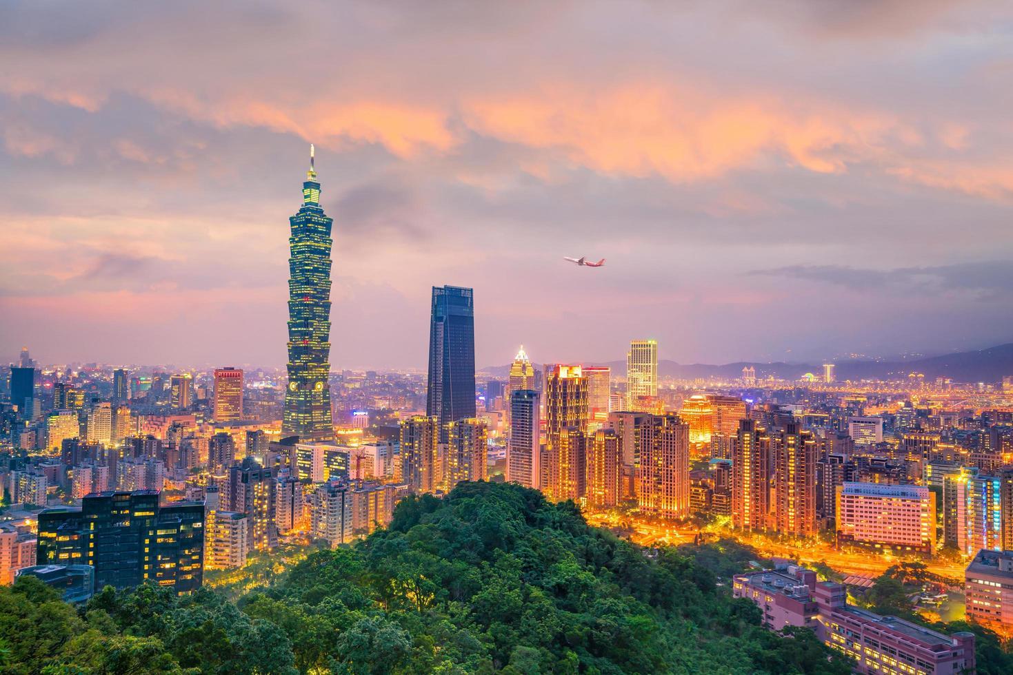 City of Taipei skyline at twilight photo