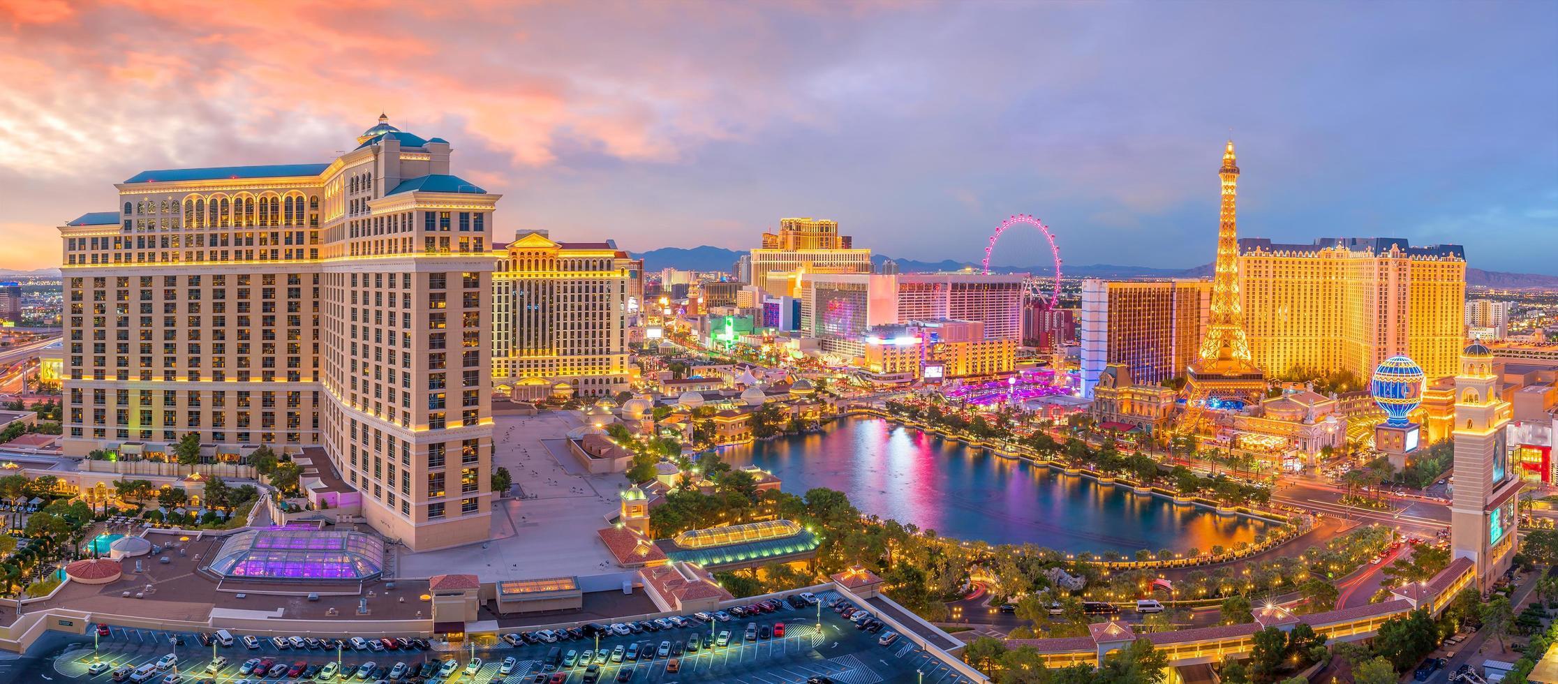 Aerial view of Las Vegas strip in Nevada photo