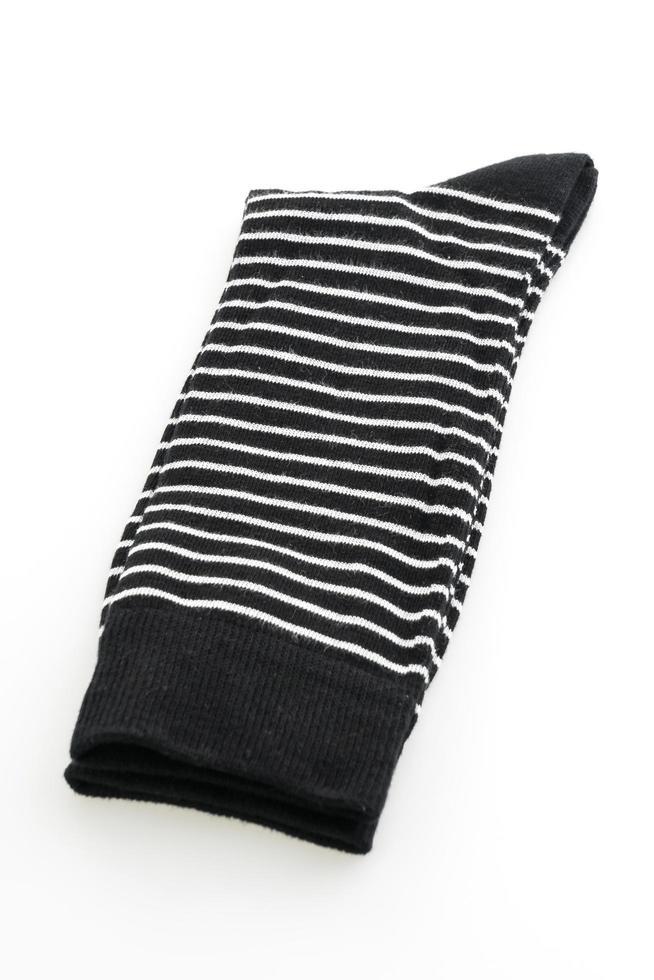 Socks on white background photo