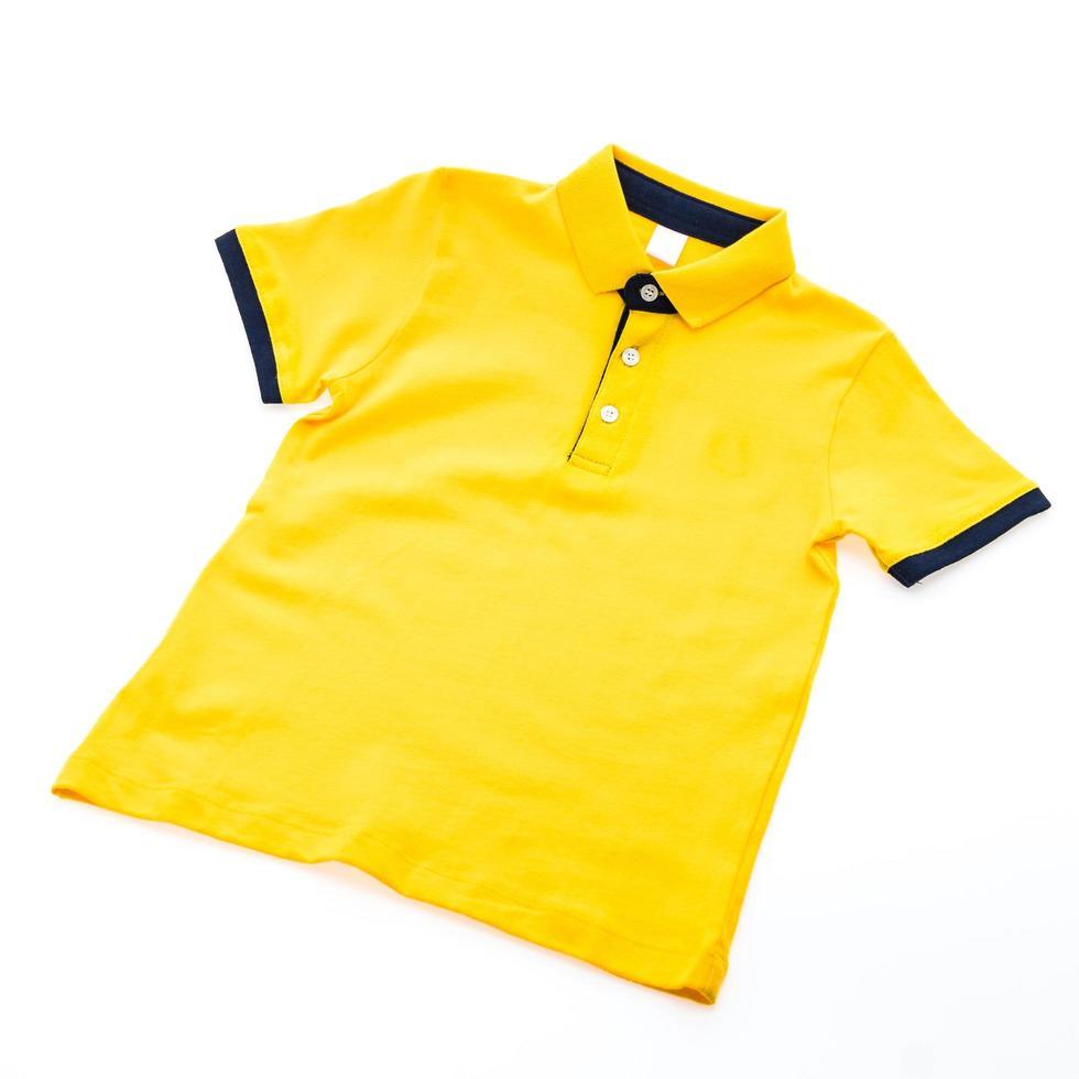Polo shirt on white background photo