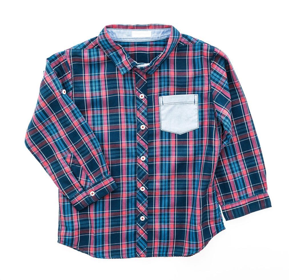camisa de tartán o cuadros foto