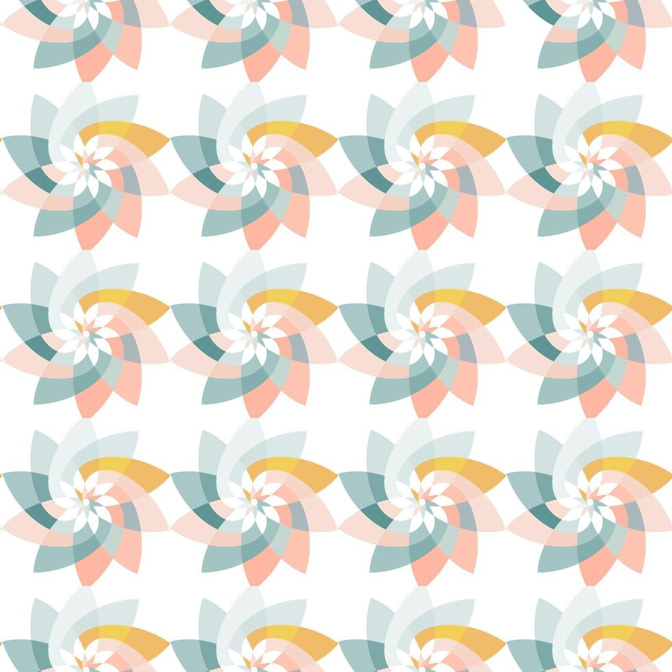 Graphic Flower Repeating Pattern Background Pink Blue vector