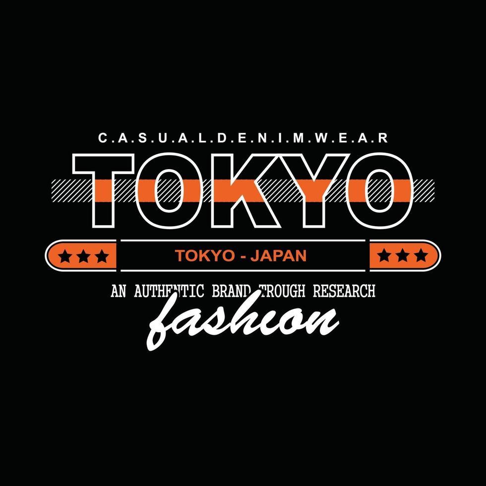 Japan tokyo denim typography t-shirt design vector