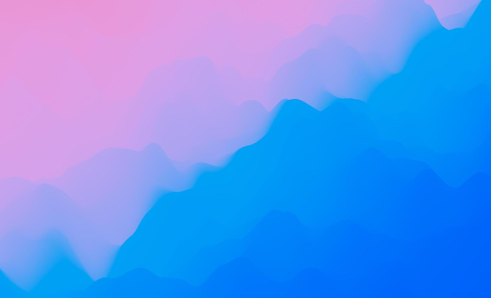 Diseño abstracto 3d de montañas planas en color degradado foto