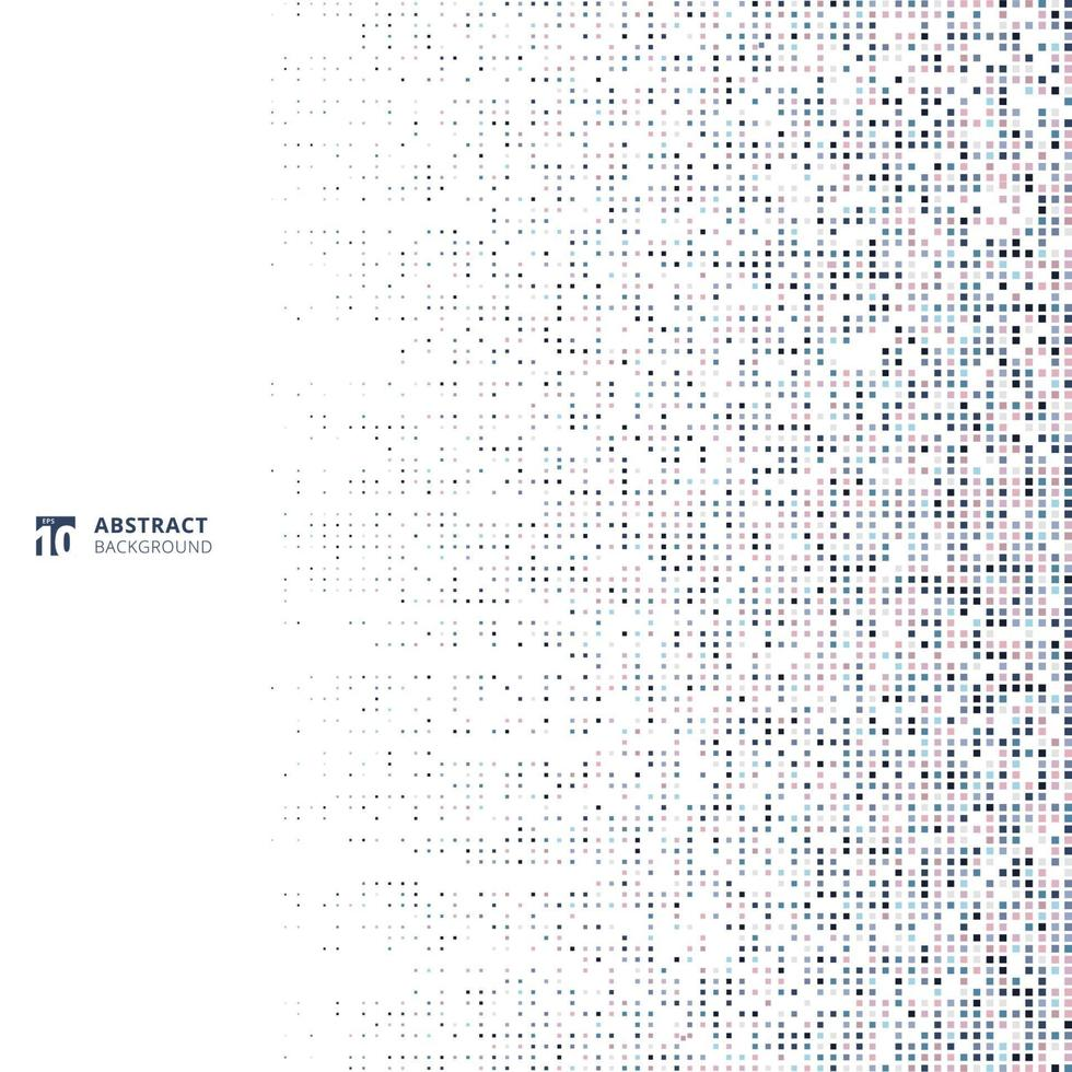 Abstract technology concept big data futuristic fading square pixel pattern vector