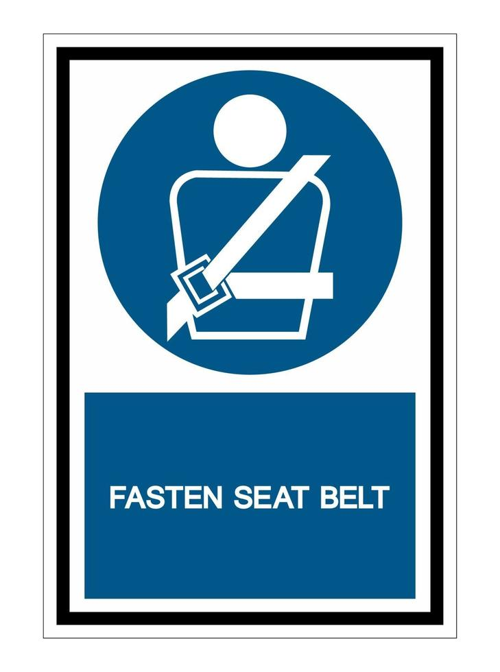 PPE Icon.Wearing a seat belt Symbol Sign Isolate On White Background,Vector Illustration EPS.10 vector