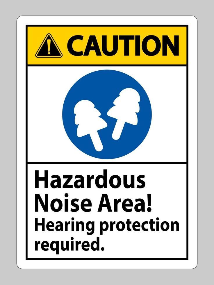 señal de precaución zona de ruido peligroso, se requiere protección auditiva vector