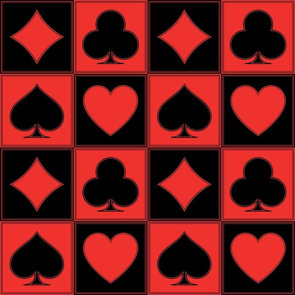 Poker pattern vector design