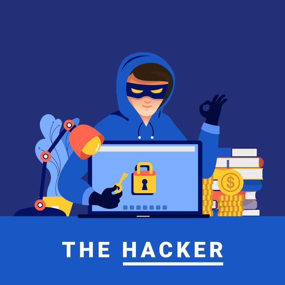 Cyber hacker concept vector