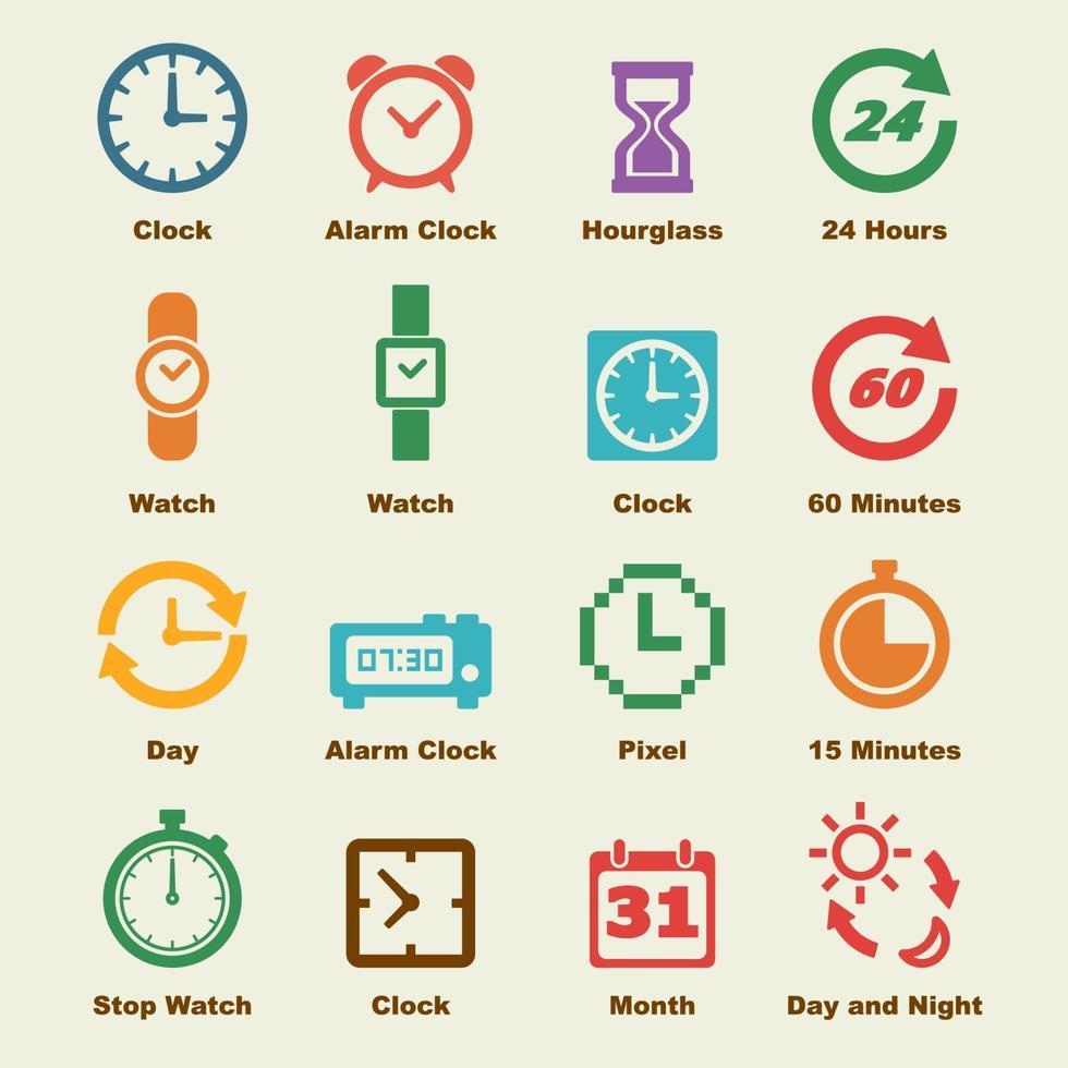 elementos de vector de tiempo