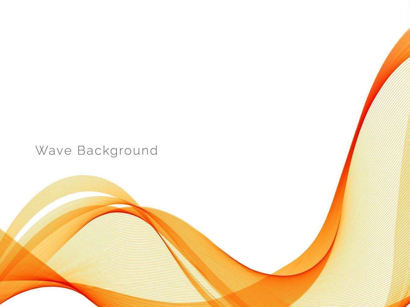 patrón moderno de diseño decorativo con elegante fondo de onda amarilla suave vector