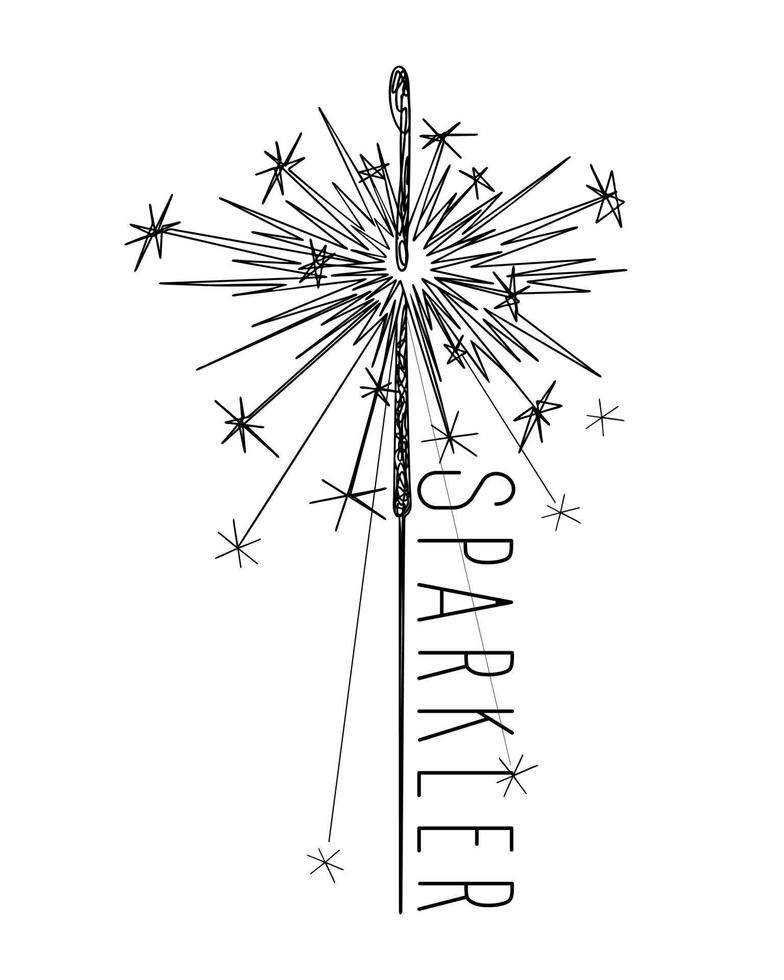 Abstract closeup of sparkler on white background vector
