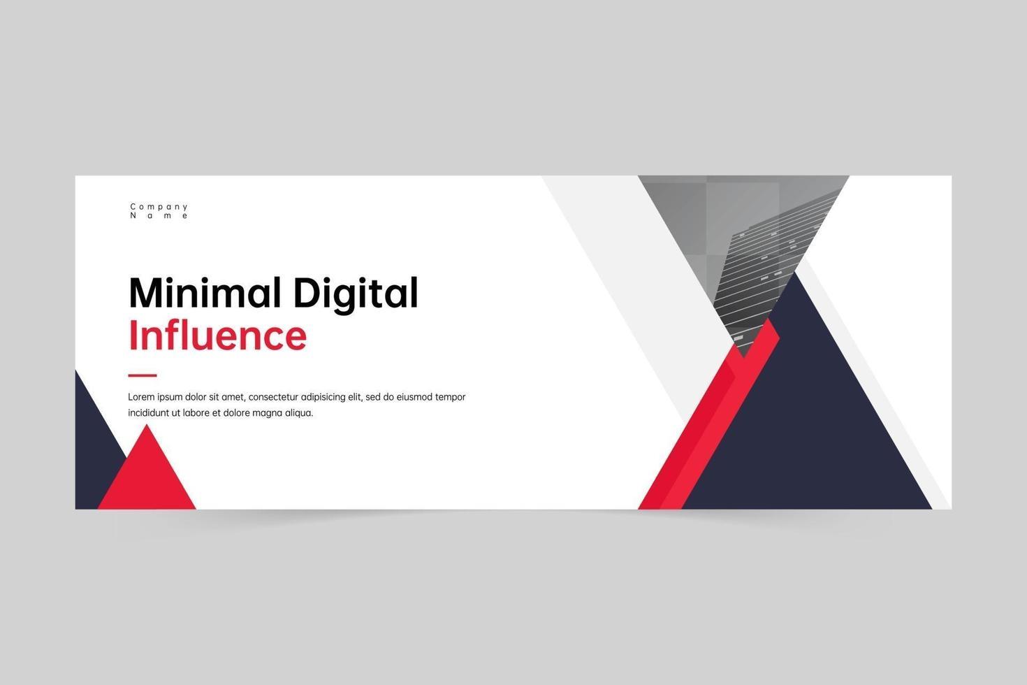 plantilla de banner de agencia de marketing digital profesional geométrico creativo vector