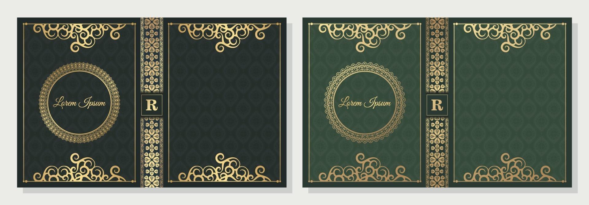 diseño de portada de libro ornamental de lujo vector